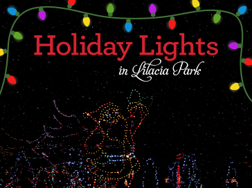 Holiday Lights in Lilacia Park